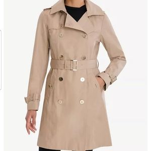 Micheal Kors Double Breasted Belted Trench Coat